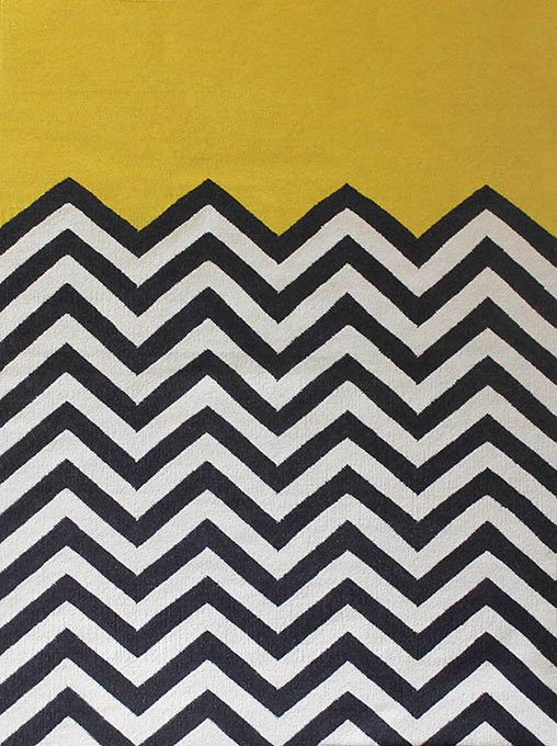 Chevron Block Yellow - By Jamie Durie