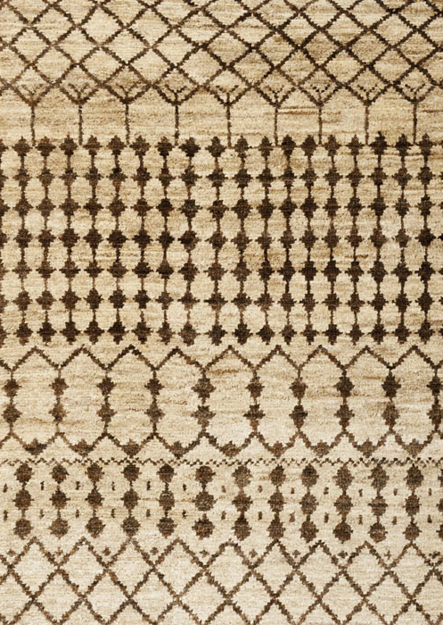 Textured & flatweave natural rug