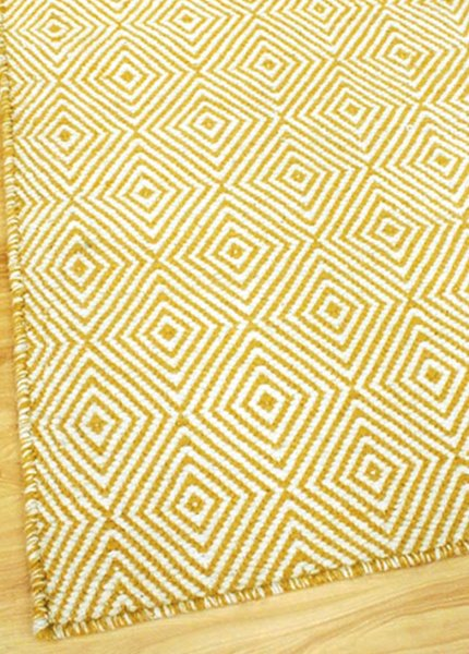 Braid Diamond Runner - Mustard /natural