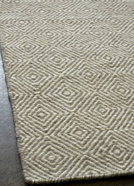 Braid Diamond Rug - Natural/grey